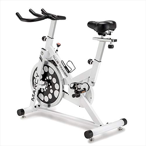 Marcy XJ-5801 Club Revolution Indoor Home Gym Exercise Bike Trainer, White/Black Marcy