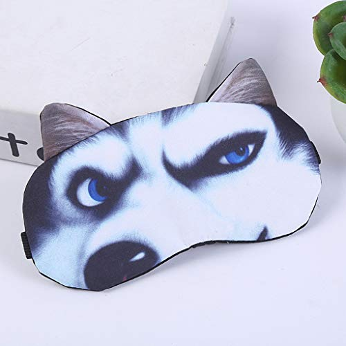 Yu2d  Cute Dog Eyes Cover Animal Eye Mask Cover Sleeping Rest Sleep Funny Gift (A) -