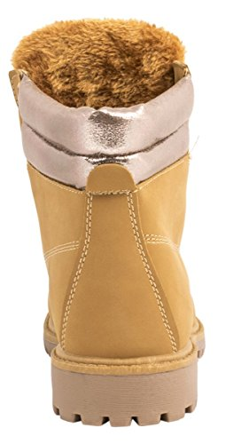 Elara - botas de nieve Mujer Camel/Champange