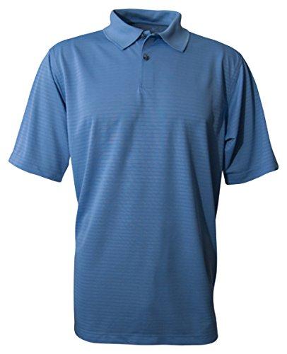 Bermuda Sands Mens Shadow Performance Polo Shirt  Bimini Blue  Small