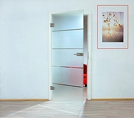 Puerta de cristal de a través de puerta de cristal de hoja de ...
