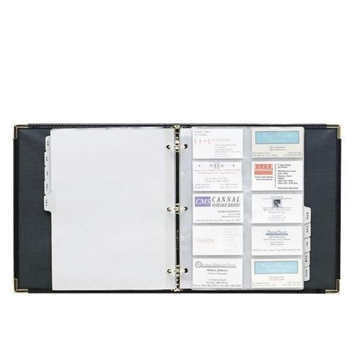 81080 Samsill Classic Vinyl Business Card Binder - 200 Capacity - 11.13