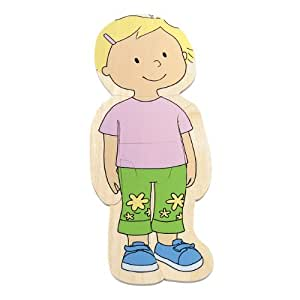 Hape Your Body 5-Layer Wooden Puzzle Girl