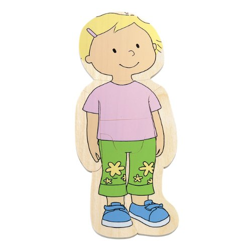 Puzzle Body Wood (Beleduc Hape Your Body 5-Layer Wooden Puzzle Girl)