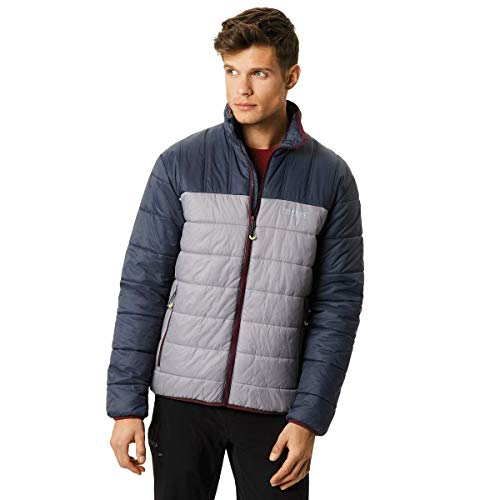 Regatta Icebound IV Lightweight Water Repellent Insulated Chaqueta, Hombre Seal Grey/Rock Grey