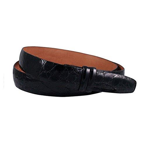 (Trafalgar Genuine Alligator 1 3/16 Inch Belt Strap in Black )