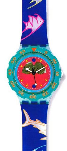 1991 Scuba 200 Swatch Watch Happy Fish (Scuba 200 Swatch Watch)
