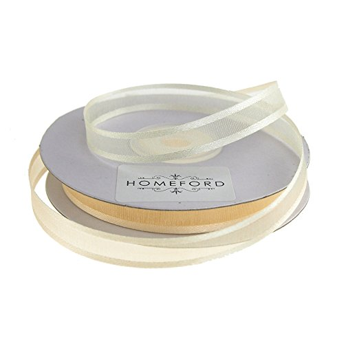 Homeford FCR000SES0308810 Satin-Edge Sheer Organza Ribbon 3/8