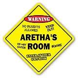 ARETHA'S ROOM Sticker Sign kids bedroom decor door children's name boy girl gift - Sticker Graphic Personalized Custom Sticker Graphic