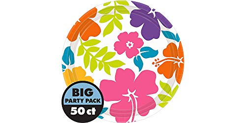 AmscanHibiscus Party Luncheon Plates, 9