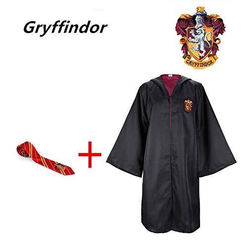 Harry Potter Costume Hogwarts Cloak Robe Fancy Dress Cosplay Costume School ^-^