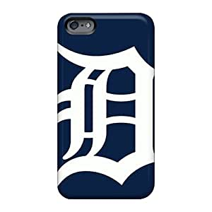 Shockproof Hard Phone Covers For Apple Iphone 6s Plus With Custom Vivid Detroit Tigers Pattern Hardcase88