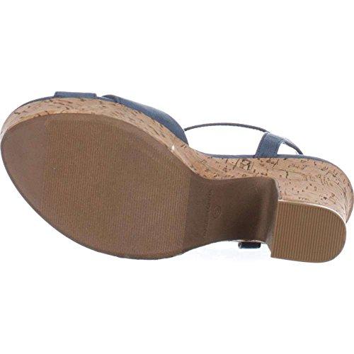 Fabric Sandals Blue Rag Open Toe Soft Jamie1 American Womens Platform Casual PtBnB4