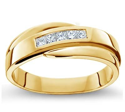 Amazon Com Comfort Fit Men S Wedding Ring In 18k White Gold Or