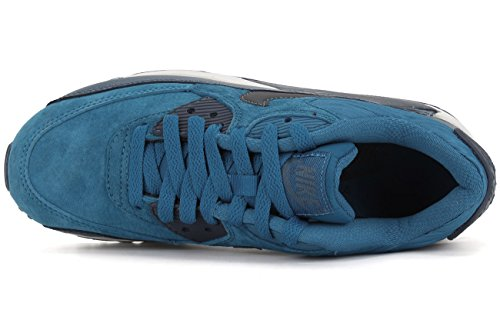 Blu Corsa da Leather Marino Air Max Nike Scarpe 90 Donna Ox8Cg