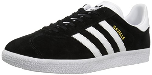 (Adidas Originals Men's Gazelle Lace-up Sneaker,Black/White/Gold Met.,10.5 M US)