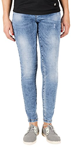 para Skinny Capitán Mujer Push Blue Vaqueros Up Azul Denim Carbon Carly xgwqY6