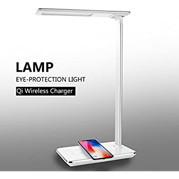 Beau CXCase LED Desk Lamp, Table Lamps, Brightness Adjustable Office Lamp With  USB Charging Port, Qi Wireless Charger, Touch Control, 4 Color Modes,  Timer, ...