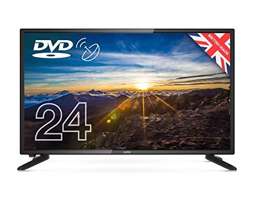 Cello 12 Volt 24″ ZSF0242-12V TV LED TV/DVD HD Ready and Built In Satellite 2020 Model Made In The UK (New 2020 Model),Black