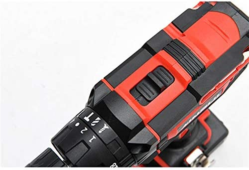 Cheniess 18v Electric Drill Two-Speed Lithium Impact Drill Electric Screwdriver for Diy Project and Repair for Home Improvement DIY Project