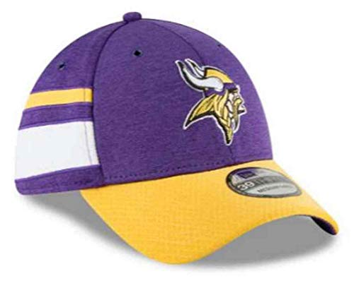 new concept f5c8a c66dd ... new zealand new era mens minnesota vikings 2018 nfl on field sideline  hat purple gold white