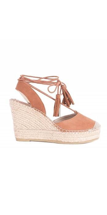 VIDORRETA Alpargatas Cuña Lace Up - Color - Cuero, Talla Zapatos Mujer - 39: Amazon.es: Zapatos y complementos
