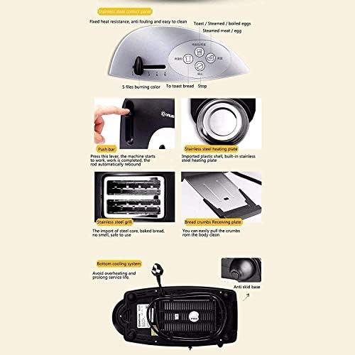 Cfbcc Multifonction Multi-Fonctionnelle Grille-Pain Pan 2 tranches Grille-Pain Machine à Pain Automatique Rapide Chauffage Grille-Pain de ménage Petit-déjeuner Maker