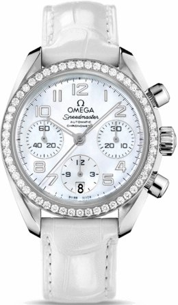 Omega Speedmaster Chronograph 38 mm Diamond Ladies Watch 324.18.38.40.05.001