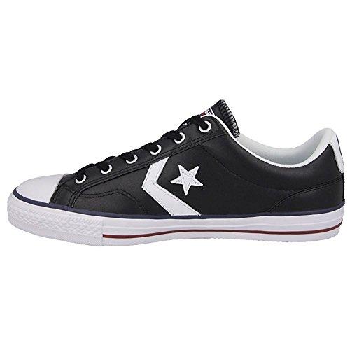 Converse - Zapatillas de deporte de cuero para hombre Black