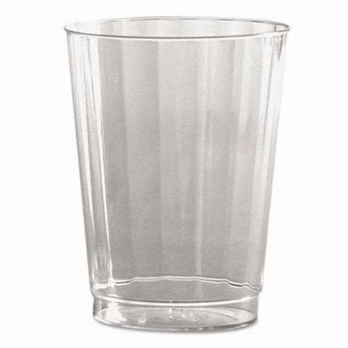 WNA CC10240 Classic Crystal Plastic Tumblers, 10 oz, Clear, Fluted, Tall, 12 Per Pack (Case of 20 Packs) Classic Crystal Plastic Tumblers