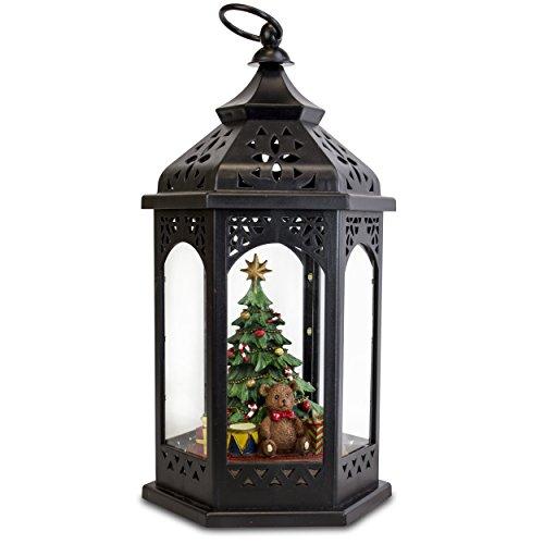 LED Lantern with Christmas Tree