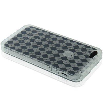 "iPhone 5 / 5S Silikon-Hülle in ""transparent"" mit Karomuster -Original nur von THESMARTGUARD-"