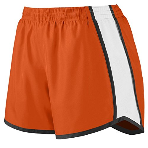 Augusta Athletic Ladies Pulse Team Short, Orange/White/Black, XX Large by Augusta Athletic