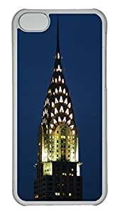 Customized iphone 5C PC Transparent Case - Chrysler Building03 Cover