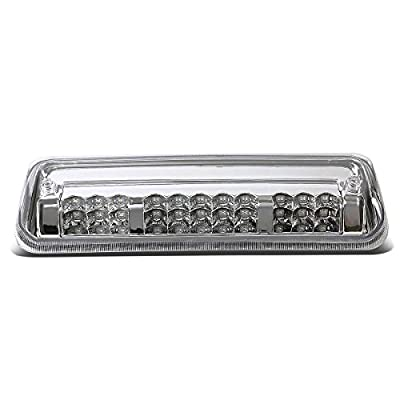 Chrome Housing Dual Row LED 3rd Third Tail Brake Light Cargo Lamp Replacement for Ford F150 Lobo Lincoln Mark LT 06-08: Automotive