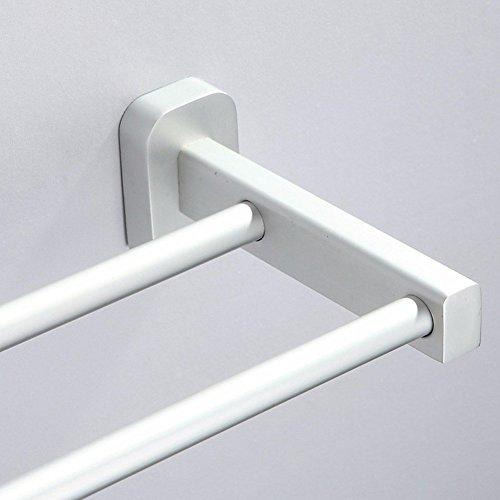 85%OFF KHSKX Space aluminum bathroom Towel Bar double towel bar bathroom toilet accessories bathroom hardware creative Towel rack
