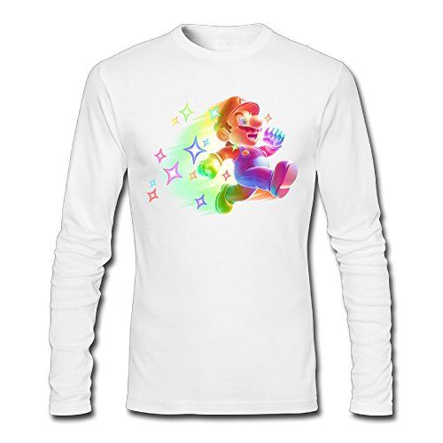 LCNANA Super Mario Bro Men's Slim Fit Shirt White XXL (Uggs Sale On Mens Slippers)