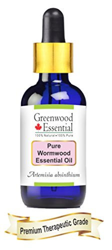 Greenwood Essential Pure Wormwood Essential Oil (Artemisia absinthium) with Glass Dropper 100% Natural Therapeutic Grade Steam Distilled 5ml (0.16 oz) ()