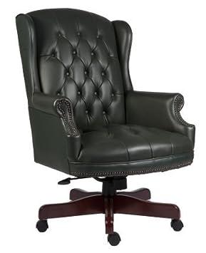 chairman swivel green leather executive chair amazon co uk office