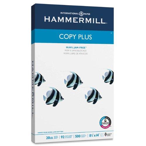 Hammermill Paper, Copy Plus Paper, 8.5 x 14 Paper, Legal Size, 20lb Paper, 92 Bright, 1 Ream / 500 Sheets...
