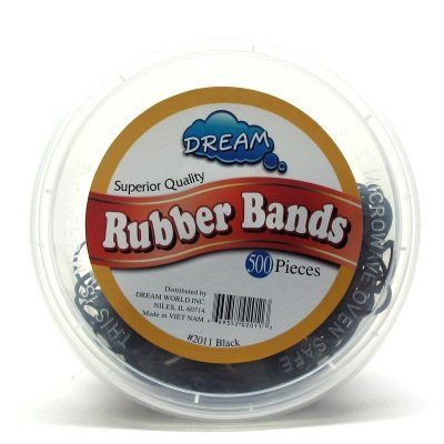 Dream Rubber Bands Black 500's Tub by Dream