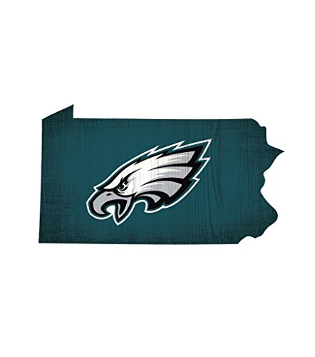 Fan Creations Philadelphia Eagles Wood Sign 12 Inch State Shape (Eagle Shape)