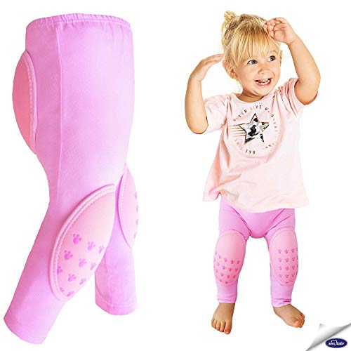 Baby First Step Pants, Padded Pants for Crawling, Protective Pants for Girls and Boys, Baby Leggings for New-Walkers Pink
