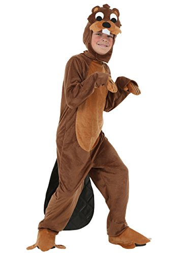 Cute Country Girl Costume (Beaver Costume for Children, Boys Girls Cute Halloween Animal Cosplay Outfit Masquerade Accessory (S))