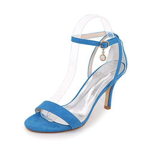 fête Couleurs Nuit L La Hauts Et Disponibles yc Blue Plus Sandals Femmes Toe Talons Des Peeps De Mariage Silk vqgn6vxB