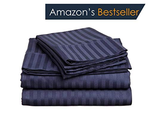 Deal of The Day Luxurious & Comfortable { 600-TC } 4-Piece Bed Sheet Set Super Soft Egyptian Cotton Fits Mattress 15