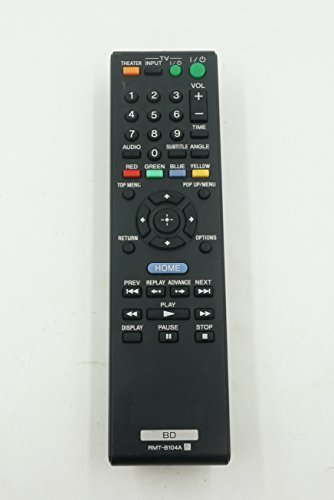 General Replacement Sony Bluray Remote Control Rmt-b104p Rmt-b102a Rmt-b103a Rmt-b104a Supplied with Models: Bdp-n460 Bdp-n460hp Bdp-s360 Bdp-s360hp Bdp-s560 Bdp-s350 Bdp-bx1 Bdp-s5000es Bdp-s550