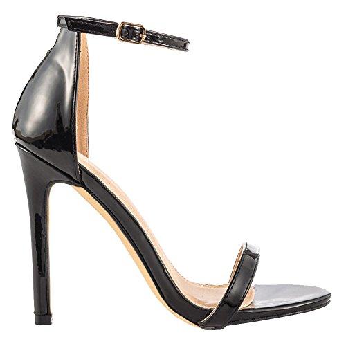 EKS - Sandalias de vestir para mujer negro