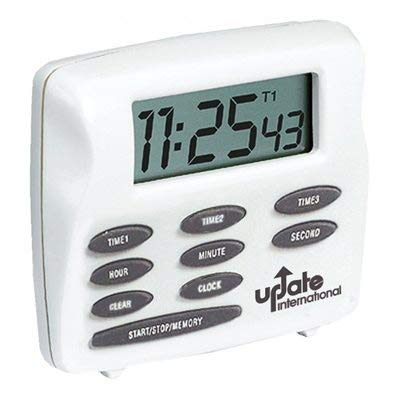 West Bend 40053-DS Triple Timer with Clock, White ()