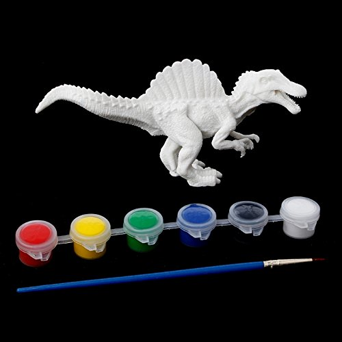 (HittecH DIY Coloring Painting Dinosaur Model Drawing Graffiti Kids Children Artwork with Brush and Paints)